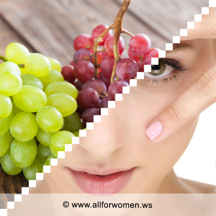 Маска из сока винограда против морщинок