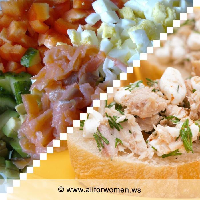 Рыбные закуска и два салата