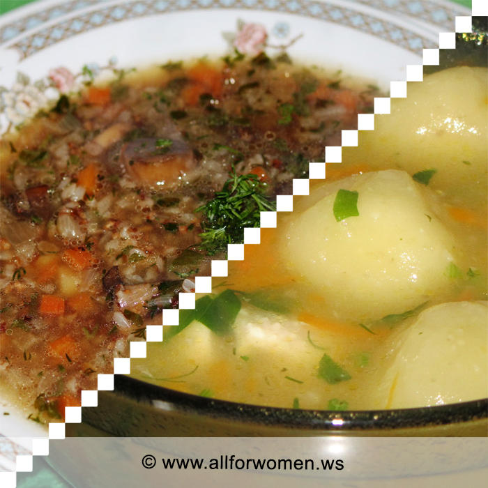 Сегодня суп, галушки и блины