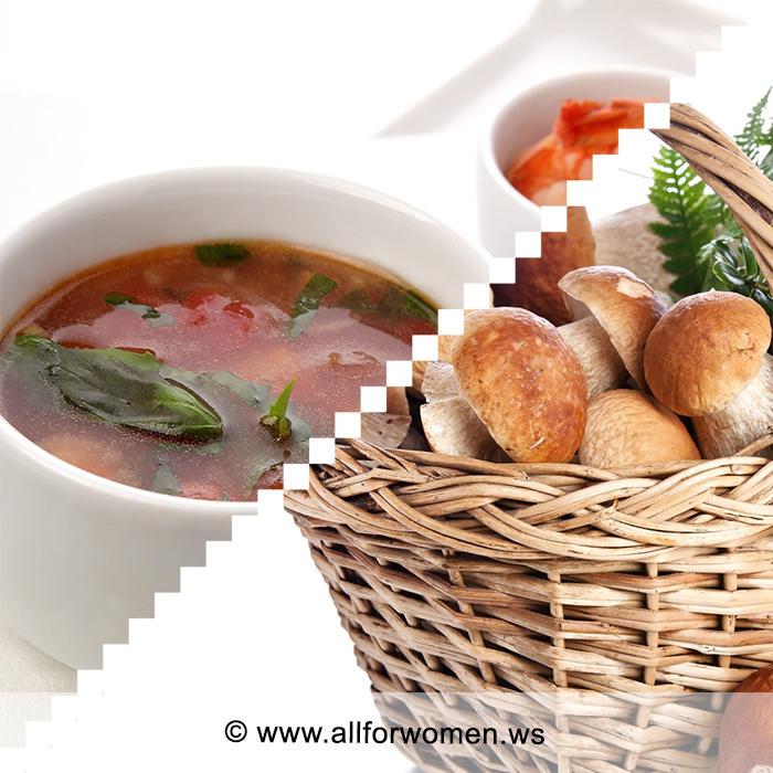 Грибной суп «перловик»