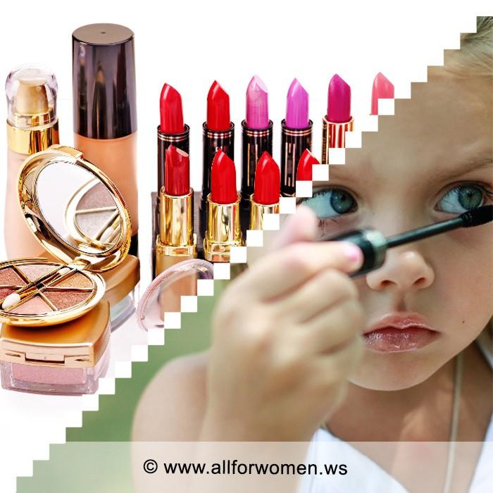 К чему может привести использование косметики в детском возрасте