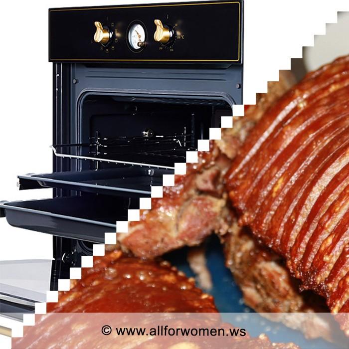 В духовке можно приготовить прекрасные блюда: запечь рыбу, буженину или котлеты по-киевски.