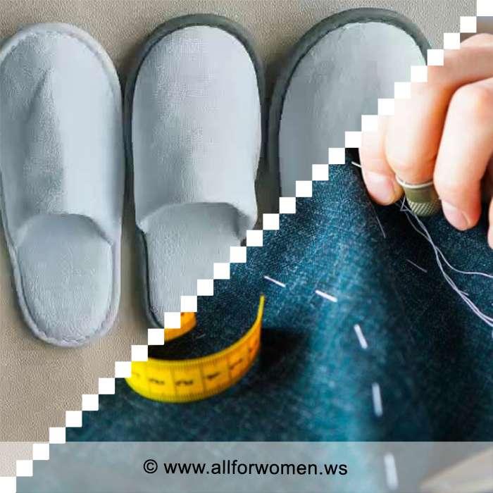Сшить домашние тапочки своими руками